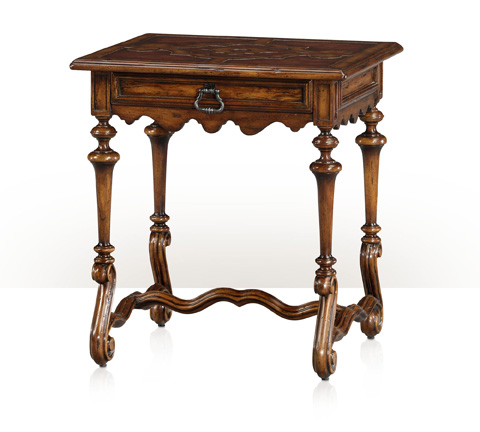 Image of Spanish S-Scroll Rectangular Lamp Table