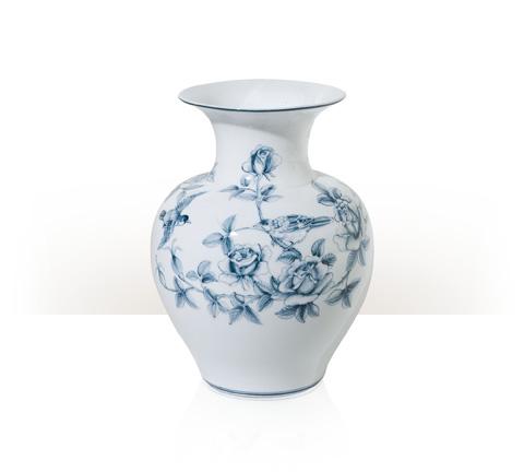 Theodore Alexander - Blue Bower Vase - 1554-508