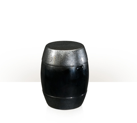 Theodore Alexander - Anthracite Barrel Stool - 4402-057