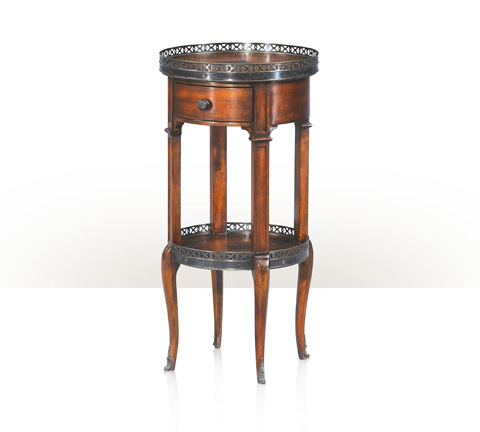 Theodore Alexander - Walnut Circle End Table - 5000-029