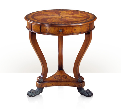 Image of Burl Swirls End Table