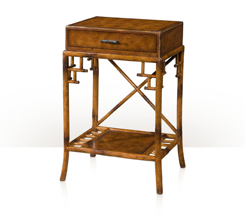 Theodore Alexander - Gilt Burl Accents End Table - 5005-394