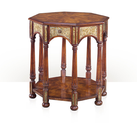 Theodore Alexander - Octagonal and Opalescent End Table - 5005-482