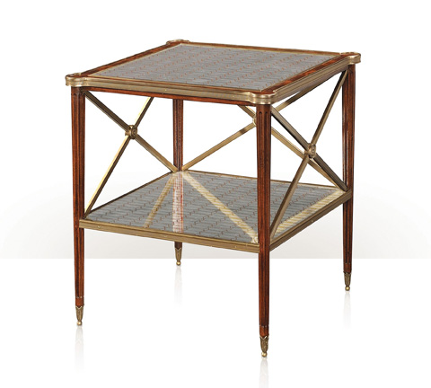 Theodore Alexander - Patterns In Silver Accent Table - 5005-661