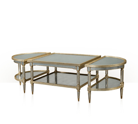 Theodore Alexander - The Mirrored Three Cocktail Table - 5150-003