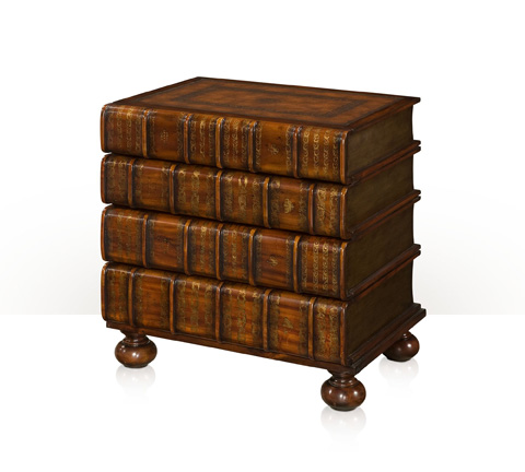 Theodore Alexander - Faux Book Chest Of Drawers - 6000-017BD