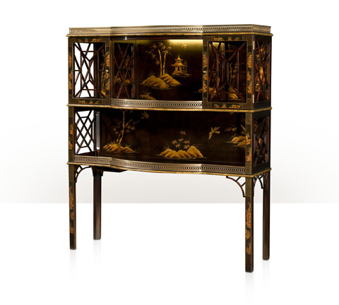Image of Chocolate Garden Accent Cabinet