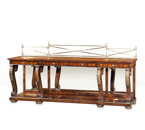 Theodore Alexander - A Mahogany Breakfront Console Table - 6105-267
