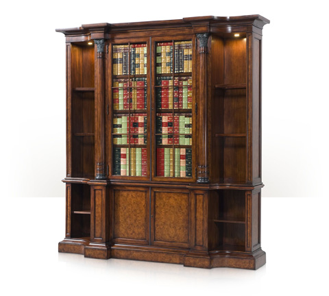 Theodore Alexander - A Faux Book And Laurel Burl Bookcase - 6300-071