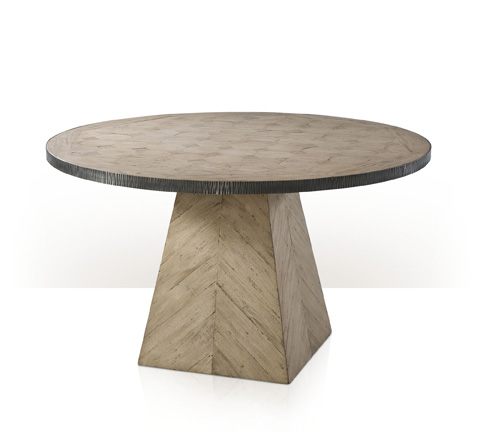Theodore Alexander - Weathered Chevrons Dining Table - CB54027