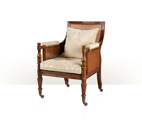 Theodore Alexander - Regency Library Bergere Chair - A04.5