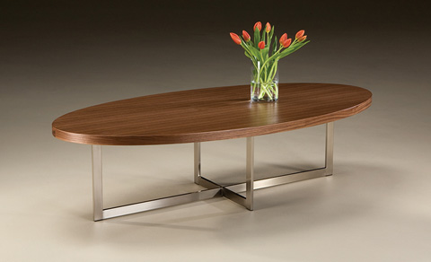 Thayer Coggin - Export Oval Cocktail Table - 1173-12
