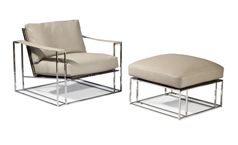 Thayer Coggin - Sling Chair and Ottoman by Milo Baughman - 1250-103