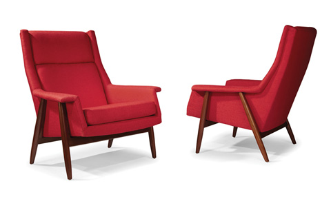 Thayer Coggin - Laid Back Lounge Chairs by Milo Baughman - 1278-103