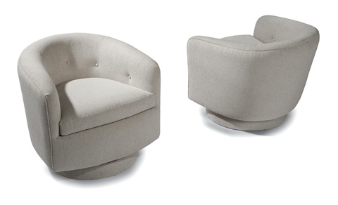 Thayer Coggin - Roxy Swivel-Tilt Tub Chair by Milo Baughman - 1283-113