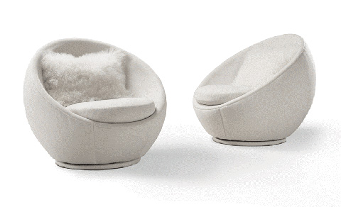 Image of The Good Egg Swivel Chair by Milo Baughman