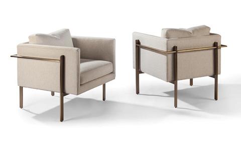 Thayer Coggin - Drop In Chairs by Milo Baughman - 1314-103-B