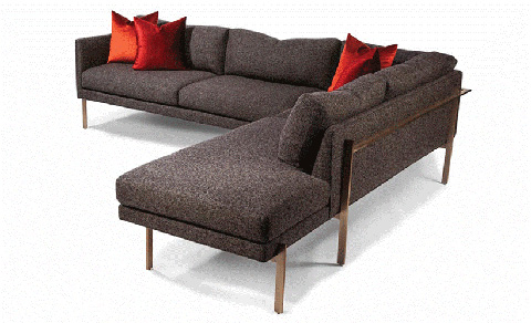 Thayer Coggin - Drop In Sectional in Brushed Bronze - 1314-311-B