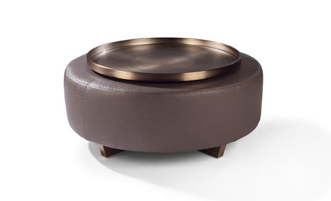 Thayer Coggin - Toasted Clip Table Ottoman and Tray - 1317-000