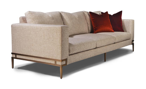 Thayer Coggin - Manolo Sofa in Brushed Bronze - 1339-303-B