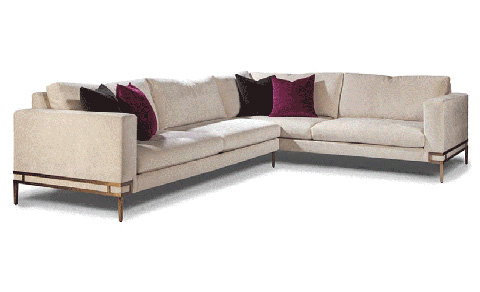 Thayer Coggin - Manolo Sectional in Brushed Bronze - 1339-306-B