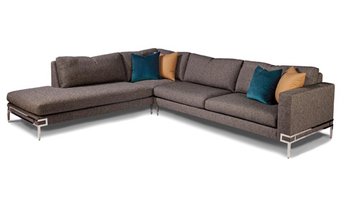 Thayer Coggin - Manolo Sectional in Stainless Steel - 1339-401