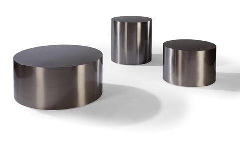 Thayer Coggin - Brushed Nickel Drum Tables by Milo Baughman - 2000-14BN