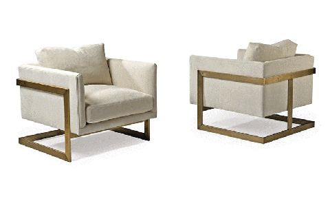 Thayer Coggin - T-Back Lounge Chair by Milo Baughman - 989-103