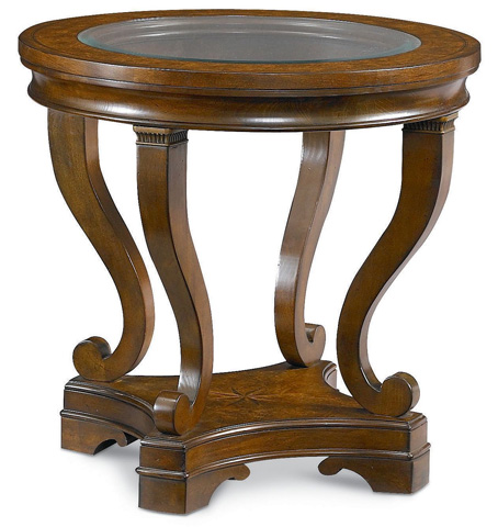 Thomasville Furniture - Round Glass Top Lamp Table - 46731-231