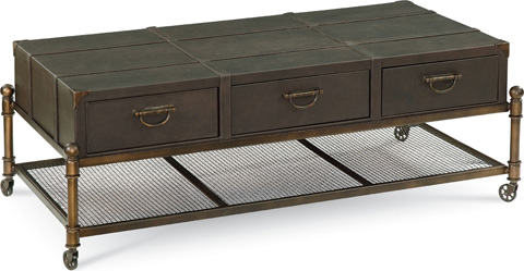Thomasville Furniture - Leather Cocktail Table - 82891-160