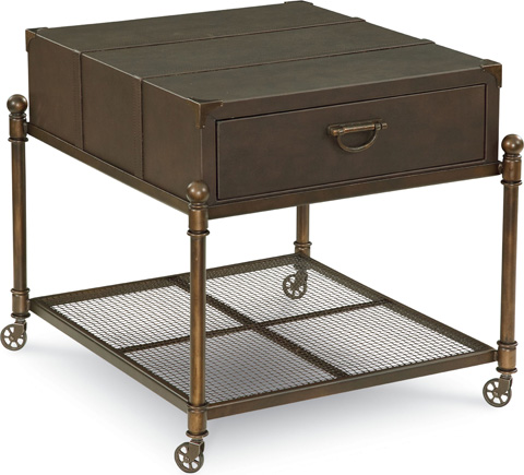 Thomasville Furniture - Leather End Table with Casters - 82891-260