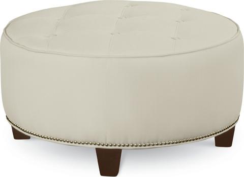 Thomasville Furniture - Brooklyn Round Button Top Ottoman - 1828-16