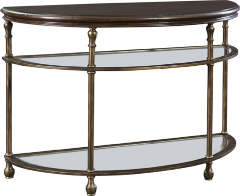 Image of Metal Accent Demilune Console Table