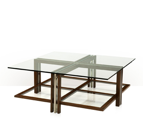 Theodore Alexander - Doubles Glass Cocktail Table - KENO5119