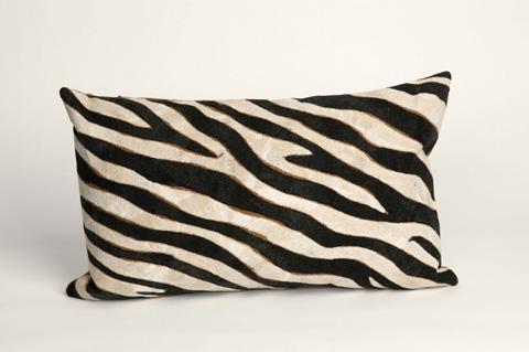 Trans-Ocean Import Co., Inc. - Visions I Zebra Black Pillow - 7SA1S304348