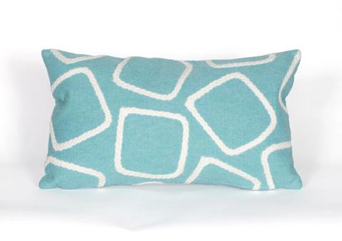 Trans-Ocean Import Co., Inc. - Visions I Squares Aqua Pillow - 7SA1S408704