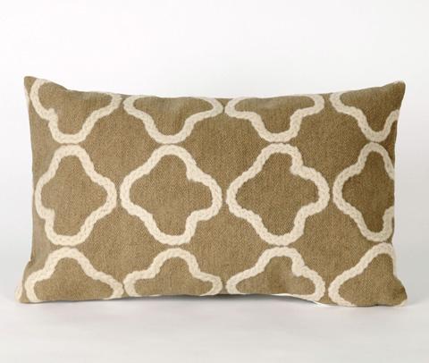 Trans-Ocean Import Co., Inc. - Visions II Crochet Tile Linen Pillow - 7SB1S413211
