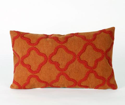 Trans-Ocean Import Co., Inc. - Visions II Crochet Tile Orange Pillow - 7SB1S413217