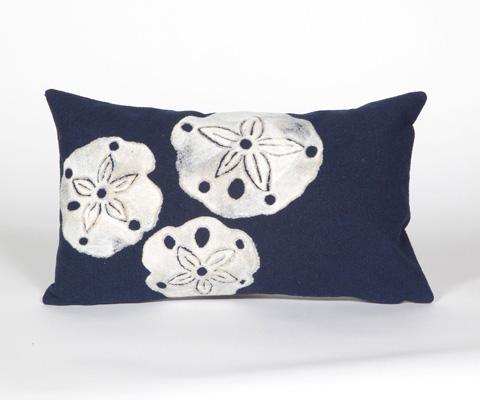 Trans-Ocean Import Co., Inc. - Visions II Sand Dollar Navy Pillow - 7SB1S414033