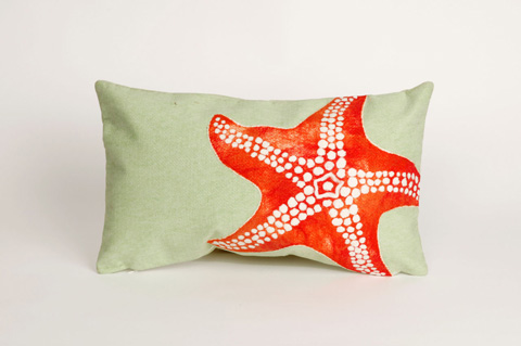 Trans-Ocean Import Co., Inc. - Visions II Starfish Seafoam Pillow - 7SB1S414116