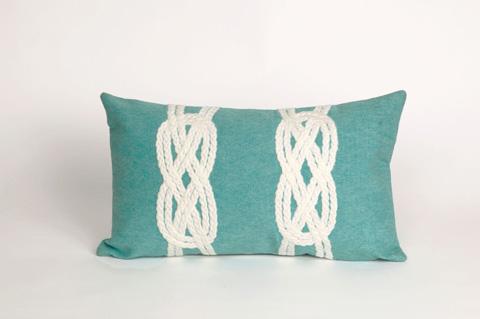 Trans-Ocean Import Co., Inc. - Visions II Double Knot Aqua Pillow - 7SB1S414204