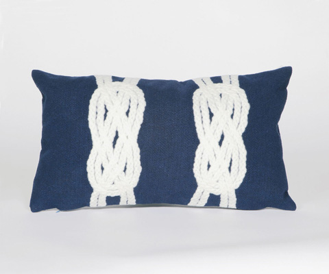 Trans-Ocean Import Co., Inc. - Visions II Double Knot Navy Pillow - 7SB1S414233