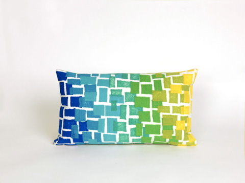 Trans-Ocean Import Co., Inc. - Visions II Ombre Tile Cool Pillow - 7SB1S415906