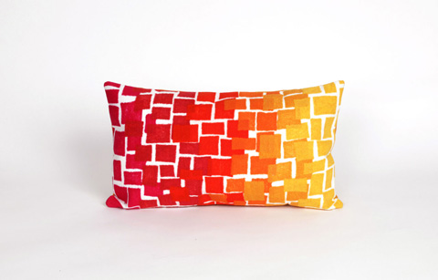 Trans-Ocean Import Co., Inc. - Visions II Ombre Tile Warm Pillow - 7SB1S415924