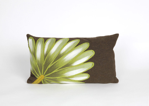 Trans-Ocean Import Co., Inc. - Visions II Palm Fan Chocolate Pillow - 7SB1S416819