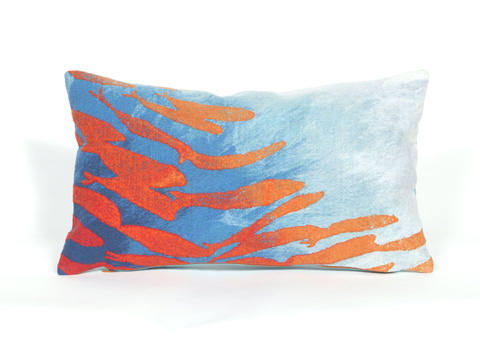 Trans-Ocean Import Co., Inc. - Visions II School Of Fish Aqua Pillow - 7SB1S417104