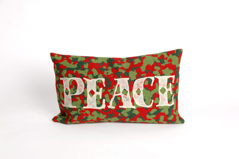 Trans-Ocean Import Co., Inc. - Visions II Peace Red Pillow - 7SB1S420124