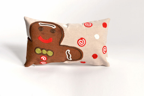 Trans-Ocean Import Co., Inc. - Visions II Ginger Boy Chocolate Pillow - 7SB1S420419