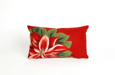 Trans-Ocean Import Co., Inc. - Visions II Poinsettia Red Pillow - 7SB1S420524