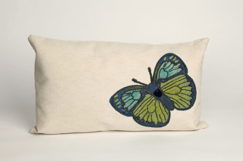 Trans-Ocean Import Co., Inc. - Visions III Butterfly Green Pillow - 7SC1S312506